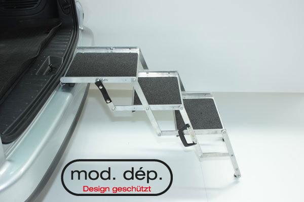 hundetreppe aus aluminium gilgenshop. Black Bedroom Furniture Sets. Home Design Ideas